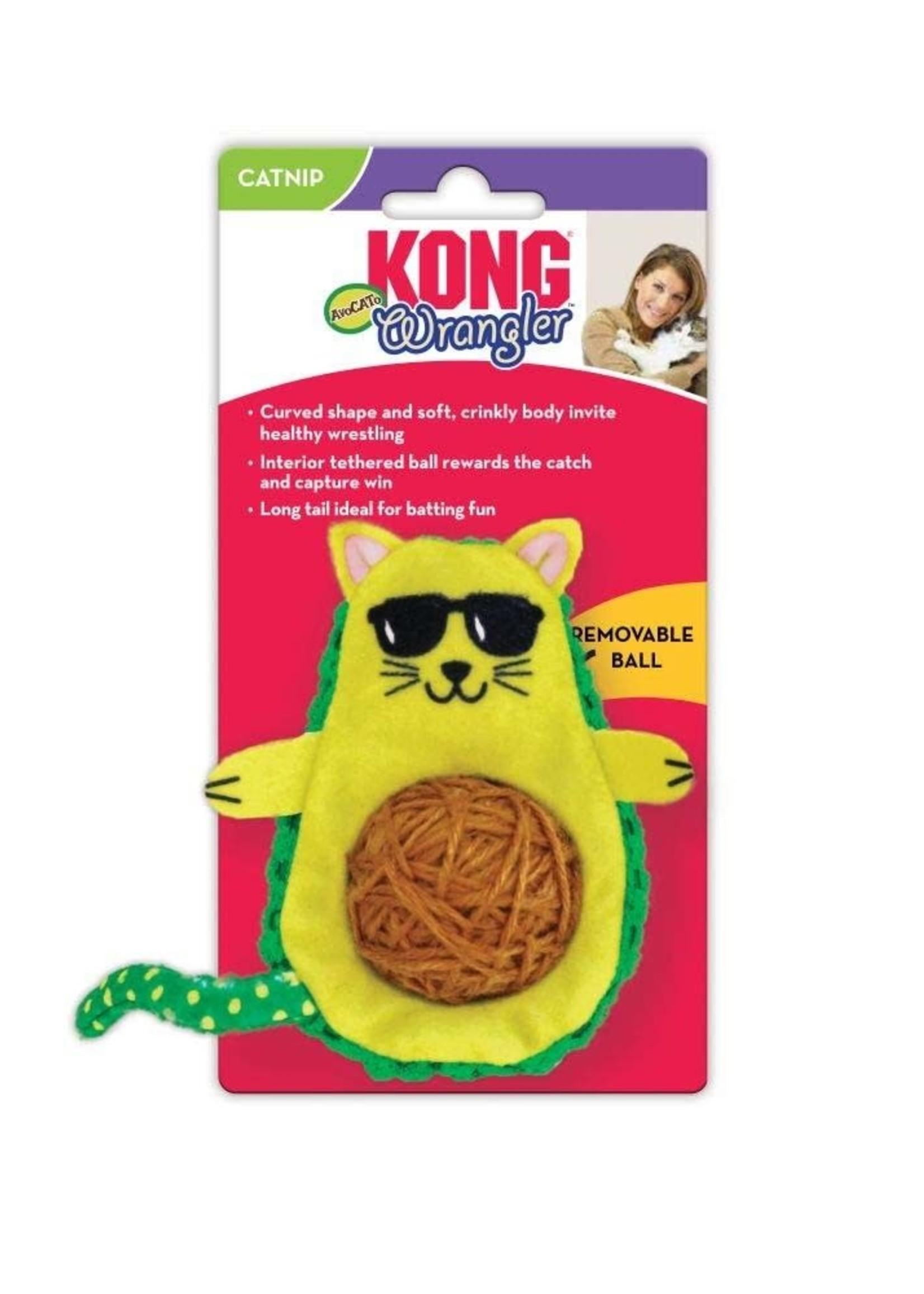 KONG COMPANY LLC Kong Wrangler AvoCATo Cat Toy