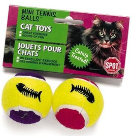 ETHICAL PRODUCT INC Ethical Products Spot Mini Tennis Balls With Bell & Catnip Assorted 2pk