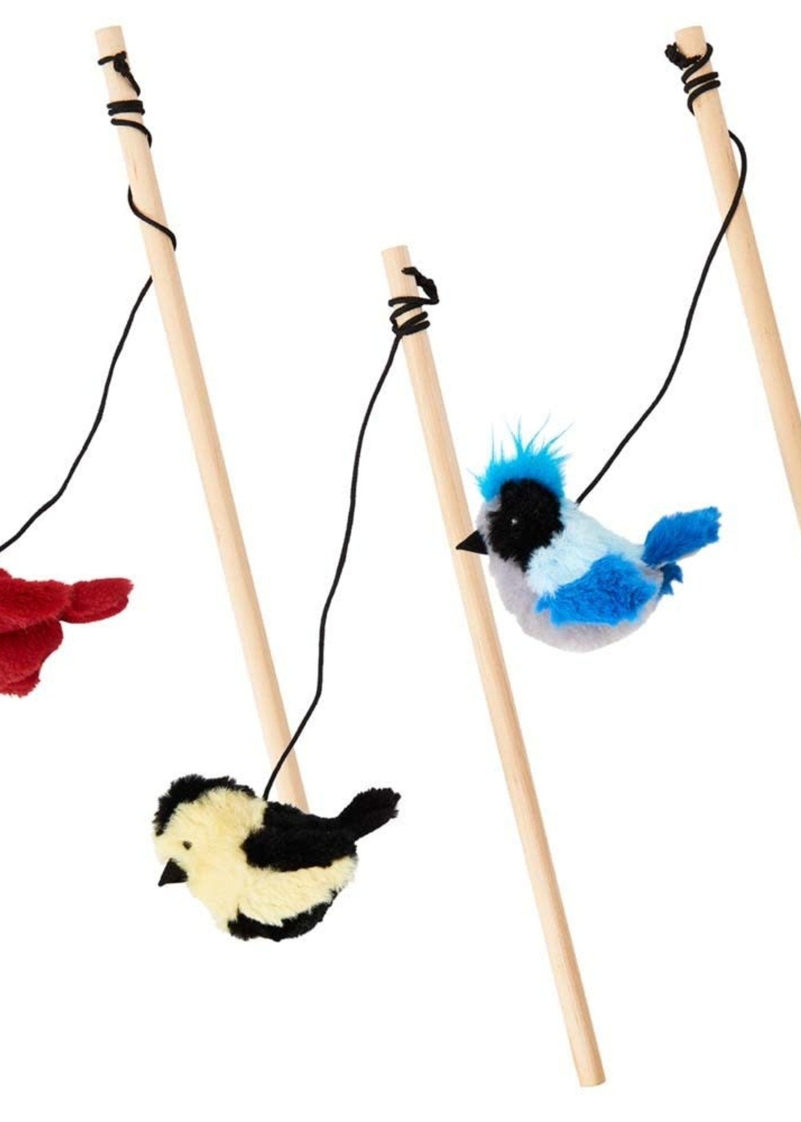 Spot Spot Songbird Teaser Wand Cat Toy Assorted