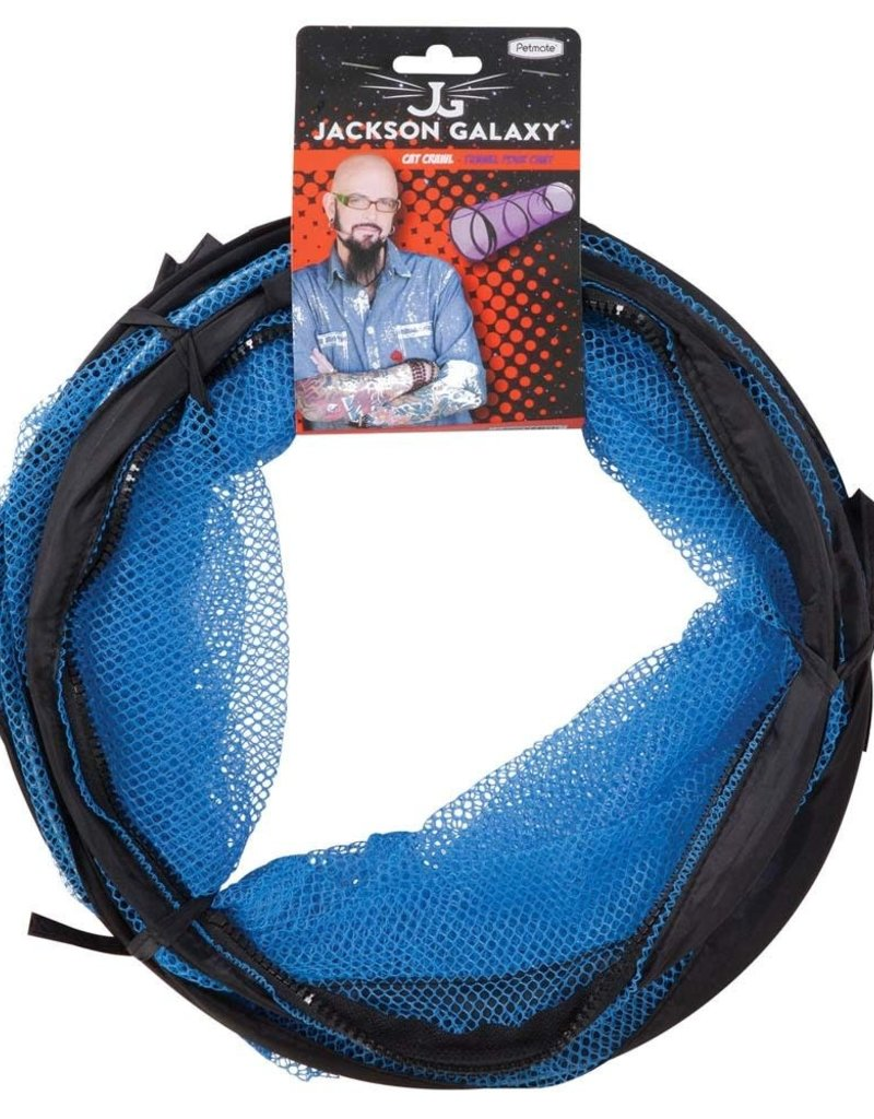 Jackson Galaxy Jackson Galaxy Cat Crawl Mesh Cat Toy Purple/Blue