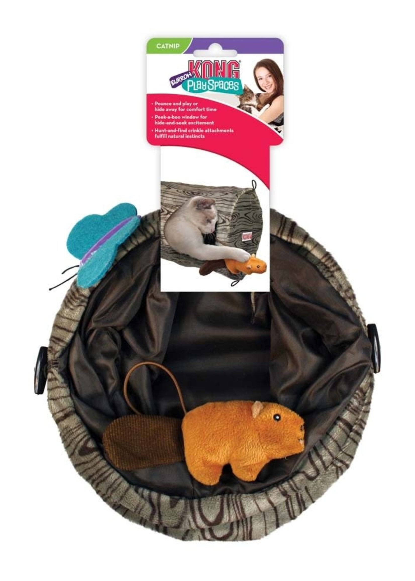 The Kong Company KONG Play Spaces Burrow Cat Toy