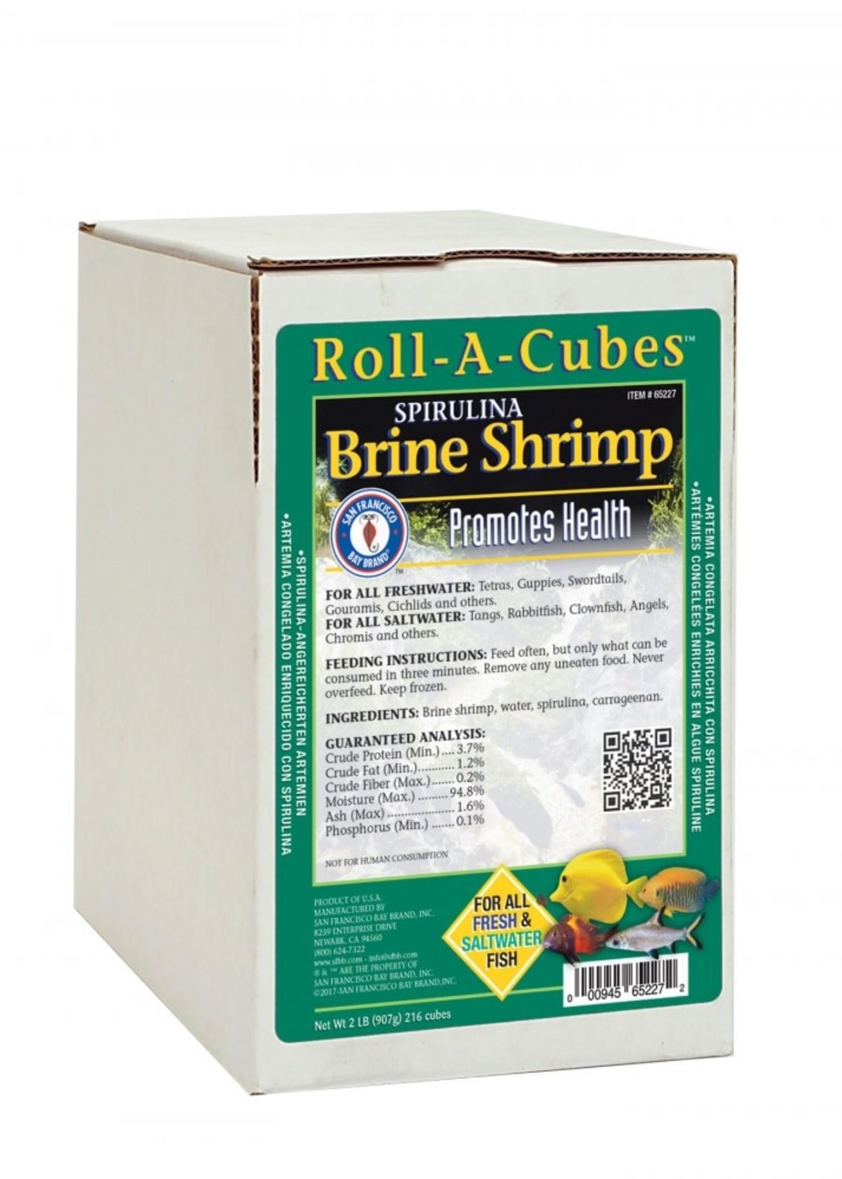 SAN FRANCISCO BAY BRAND INC San Francisco Bay Brand Frozen Spirulina Brine Shrimp Roll 2#
