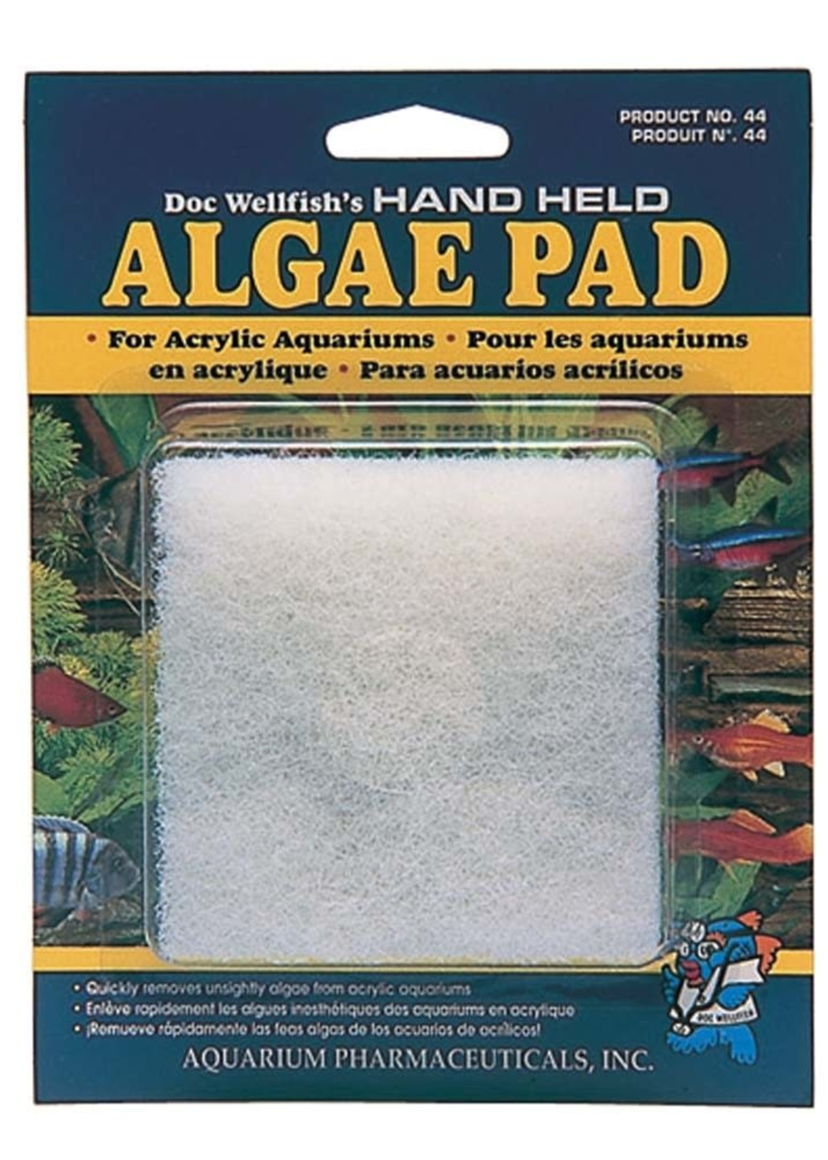 Mars Fishcare/API API Doc Wellfish's Hand Held Algae Pad Acrylic Aquariums