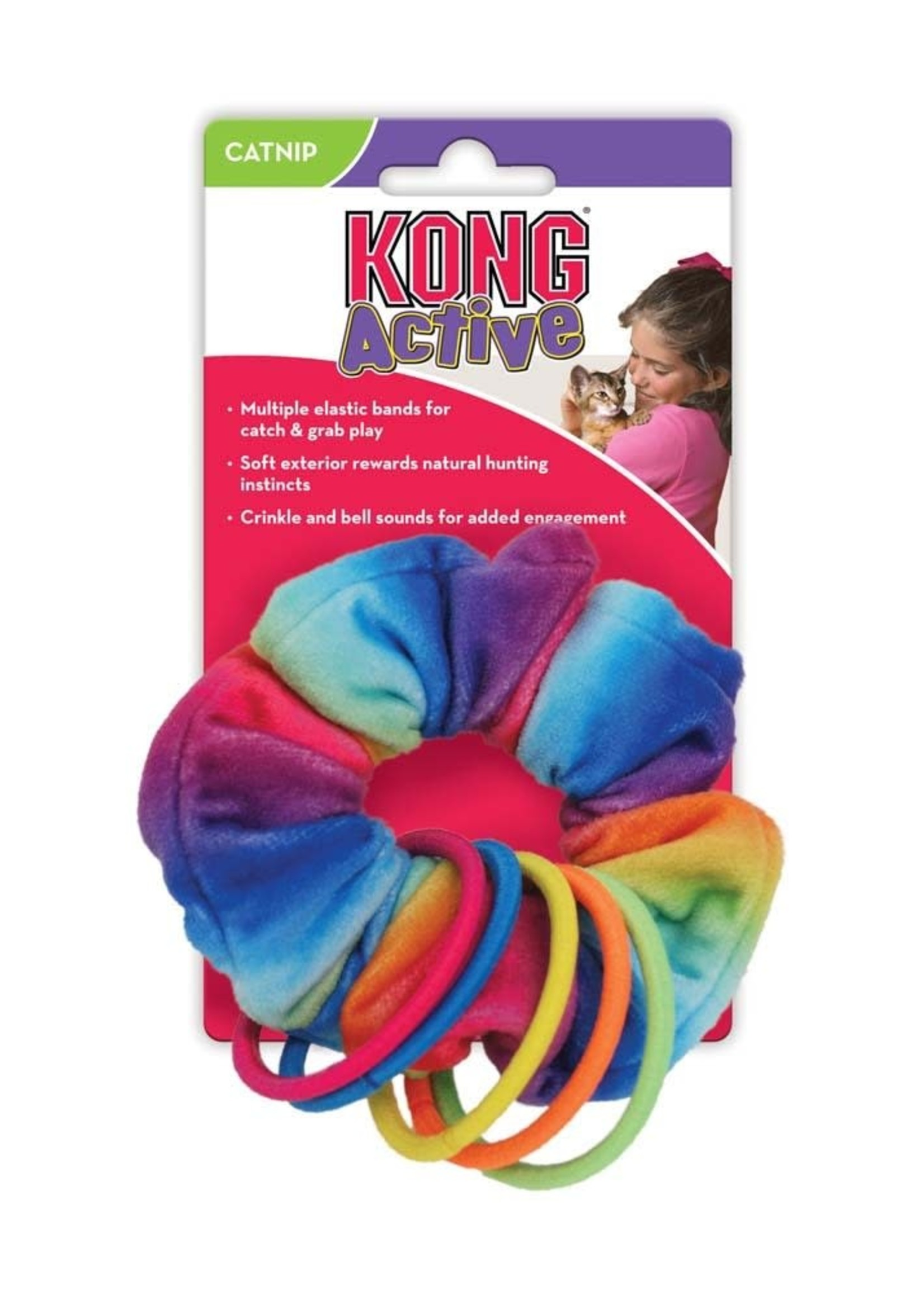 The Kong Company KONG Active Scrunchie with Cat Nip Cat Toy