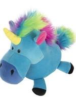 WORLDWISE INC / PET LINKS Blue goDog Unicorns with Chew Guard Technology Durable Plush Dog Toy Large
