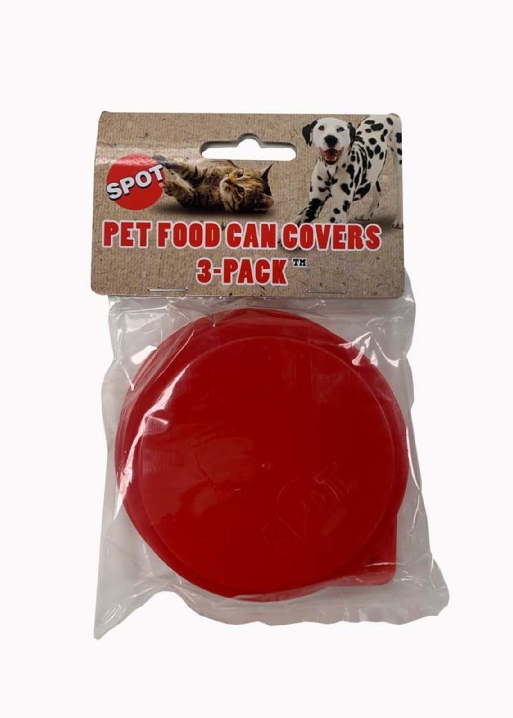 Spot Pet Food Red Can Covers 3 Pack