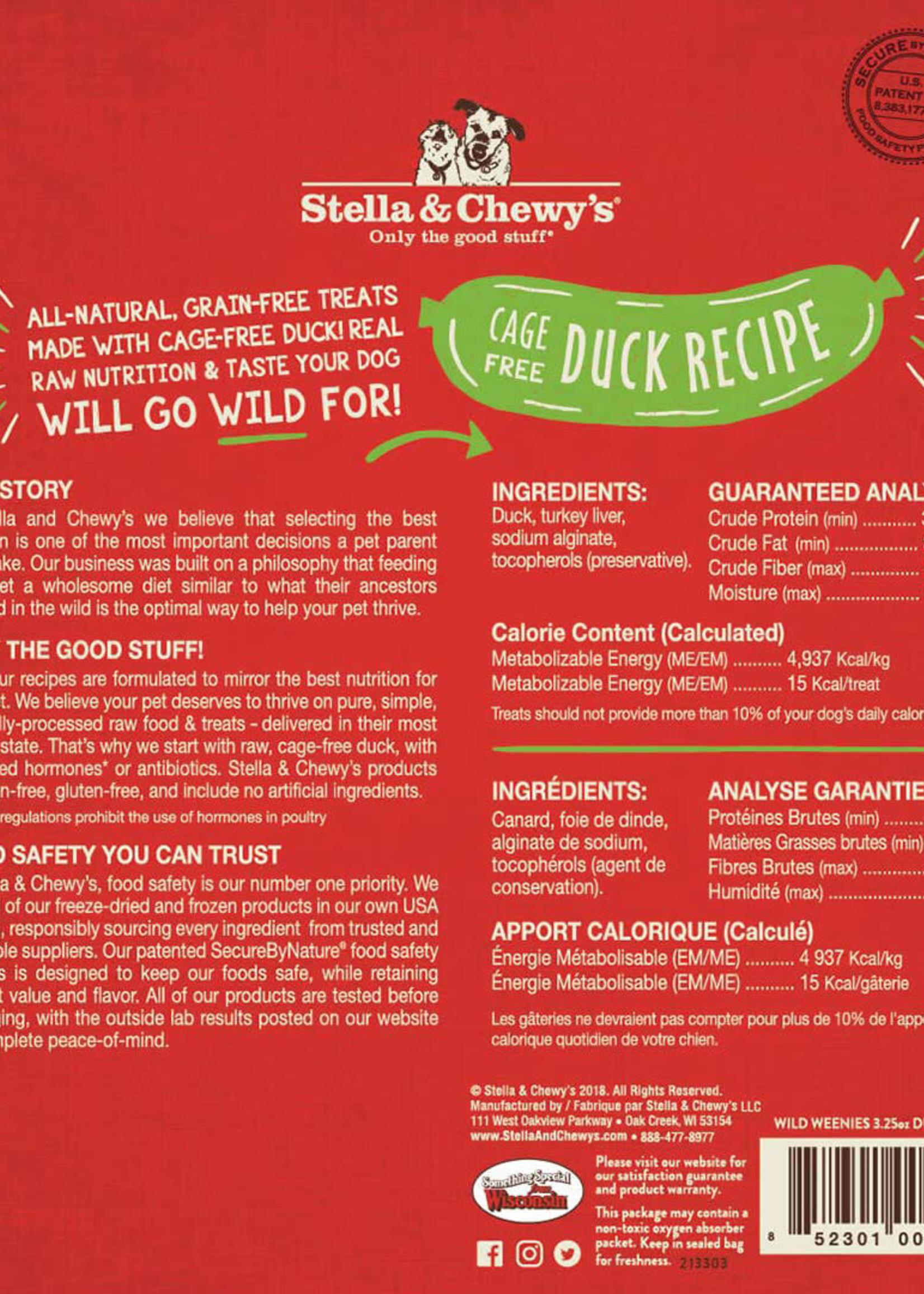 Stella & Chewys Stella & Chewy's Wild Weenies Duck 3.25oz