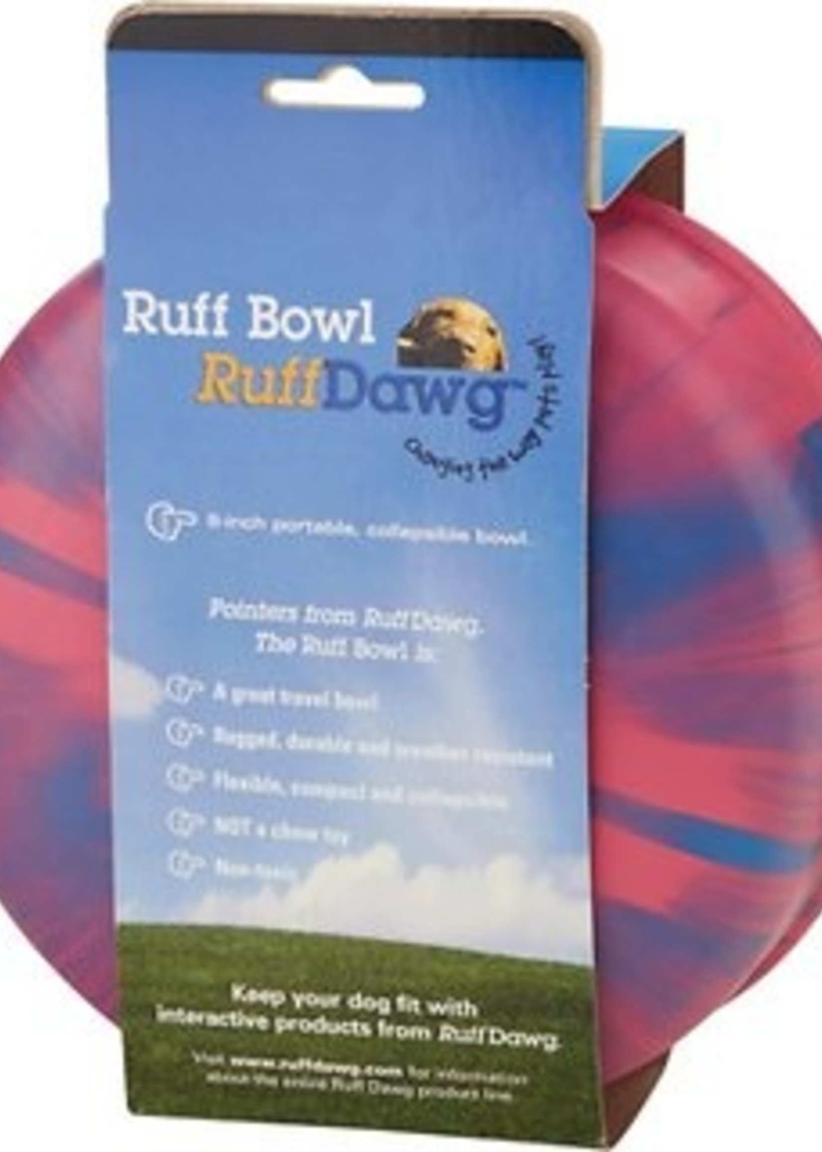 "Ruff Dawg Ruff Dawg Rubber Food Bowl 8"" Assorted Colors"