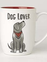 petrageous Petrageous Dog Lover Mug 24oz Red/White