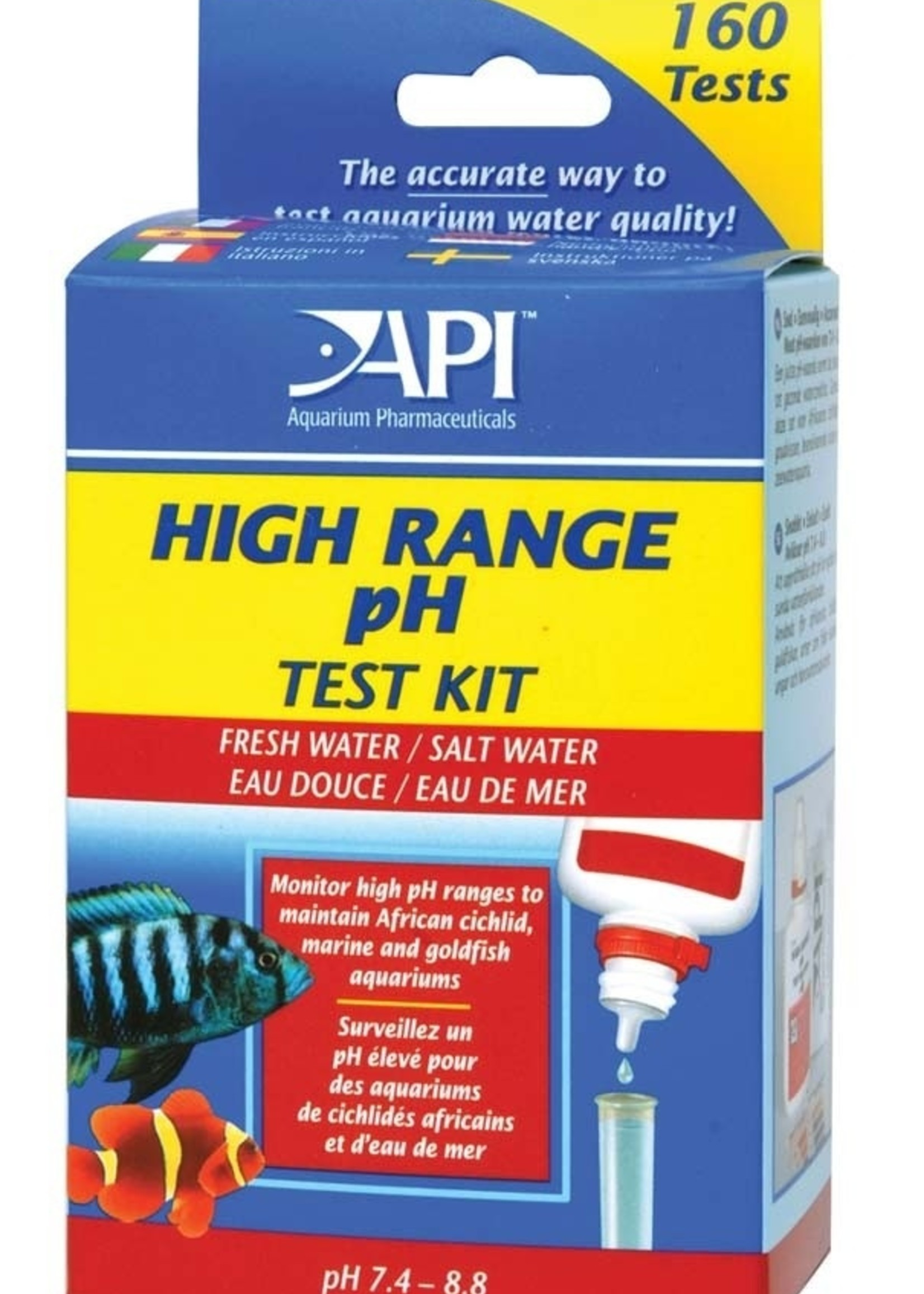 Mars Fishcare/API API High Range pH Test Kit Freshwater and Saltwater 160 Tests