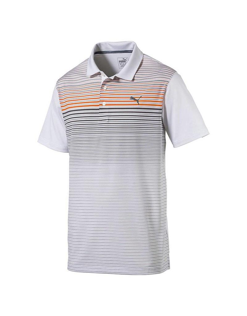 Puma Golf Puma Mens Highlight Stripe Polo