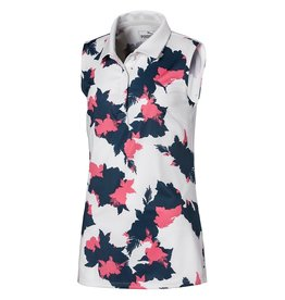 Puma Golf Puma Junior Girls Floral Sleeveless Polo