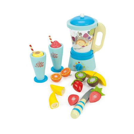 Le Toy van Mélangeur et ensemble de fruits en bois