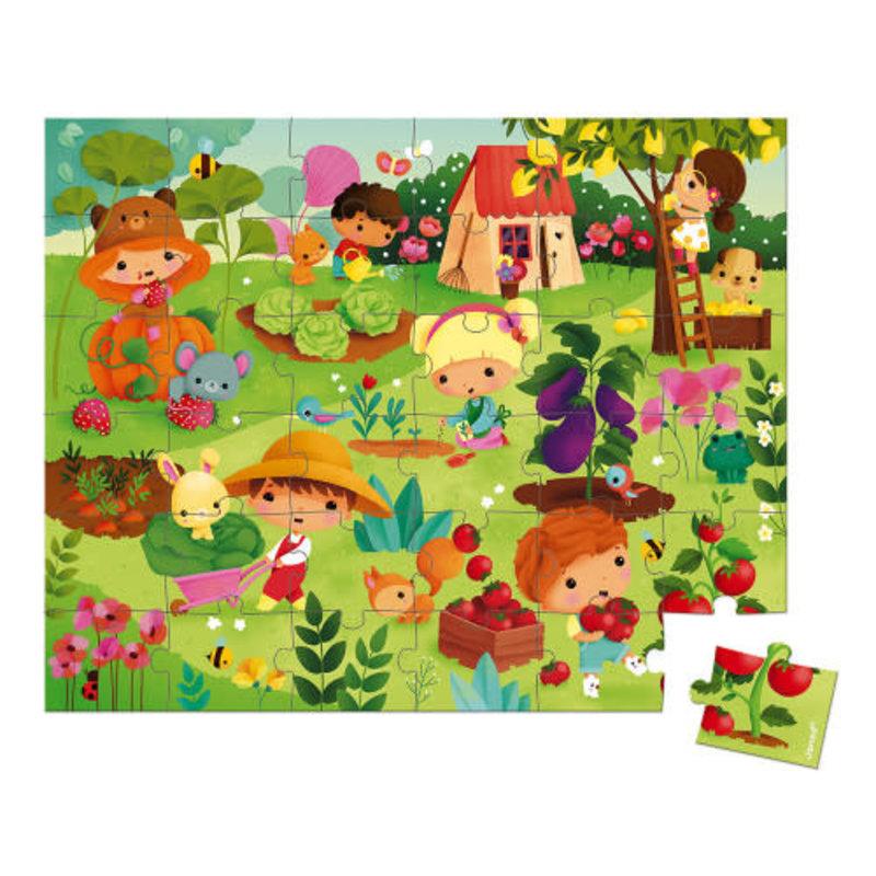 janod Janod - 36 pcs Puzzle Garden