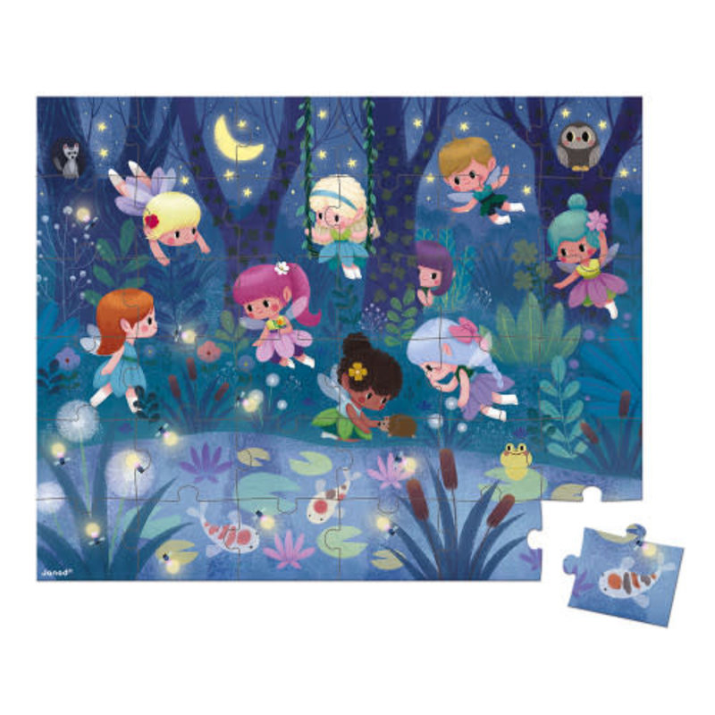 janod Janod - 36 pcs Puzzle Fairies and Waterlilies