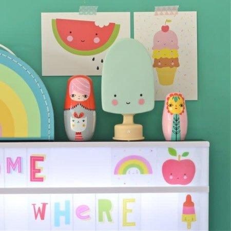A Little Lovely Company Lovely - Veilleuse Polsicle Menthe