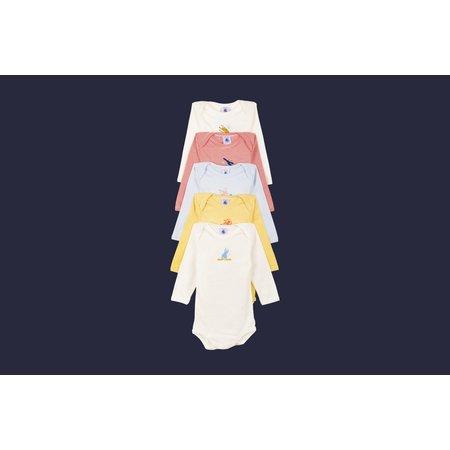 Petit bateau Petit Bateau - 5 Long Sleeves Bodies