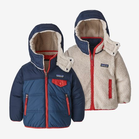 Patagonia Patagonia - Veste à Capuche Baby Reversible Tribbles