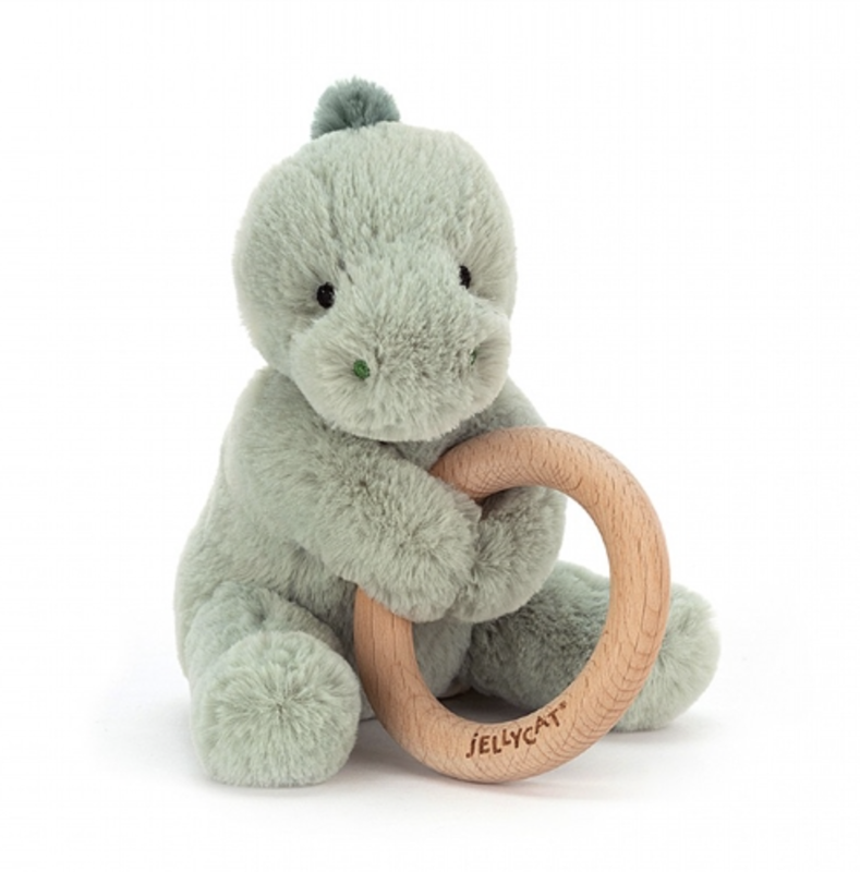 Jellycat Jellycat - Puffles Dino Wooden Ring Toy