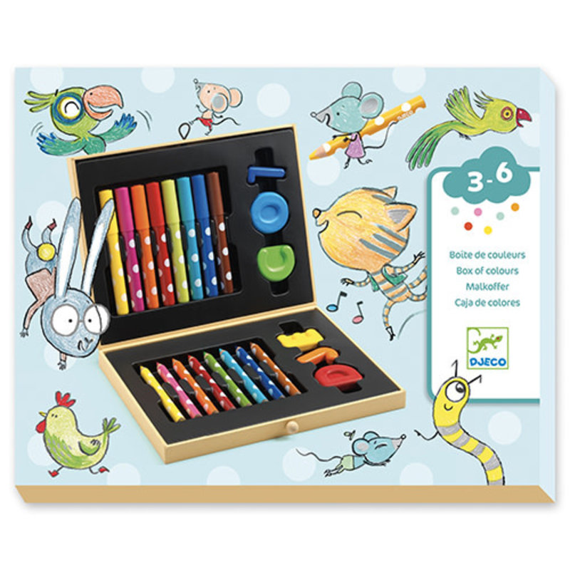 Djeco - Box of colours for toddlers