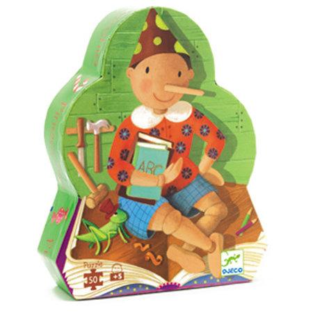 Djeco - Puzzle silouhette 50 pièces Pinocchio