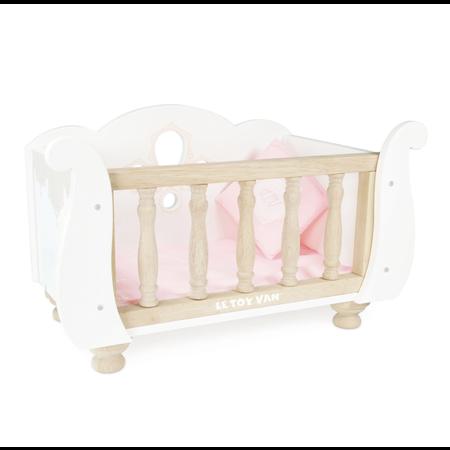 Le Toy van Toy Van - Sleigh Doll Cot & Crib