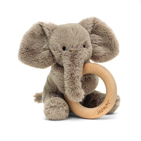 Jellycat Jellycat - Smudge Elephant Wooden Ring Toy