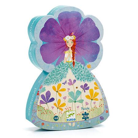 Djeco - Puzzle silouhette/Princesse du printemps