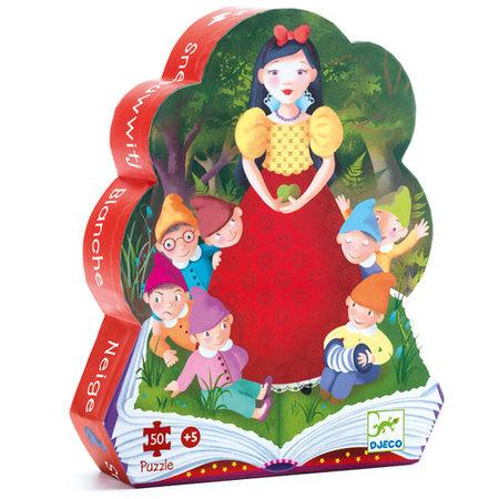 Djeco - Silhouette Puzzle / Snow White / 50 pcs