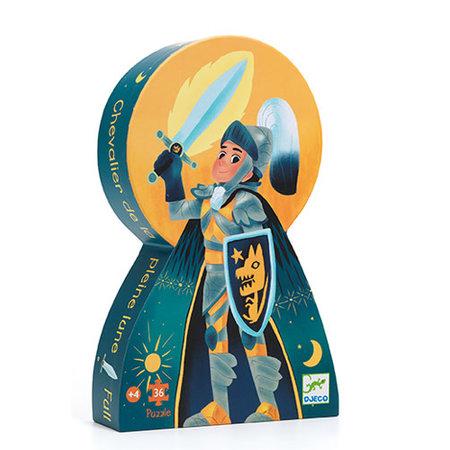 Djeco - Puzzle silouhette/Le chevalier de pleine lune