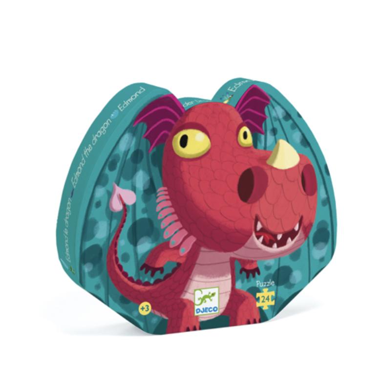 Djeco - Puzzle silouhette/Edmond le dragon