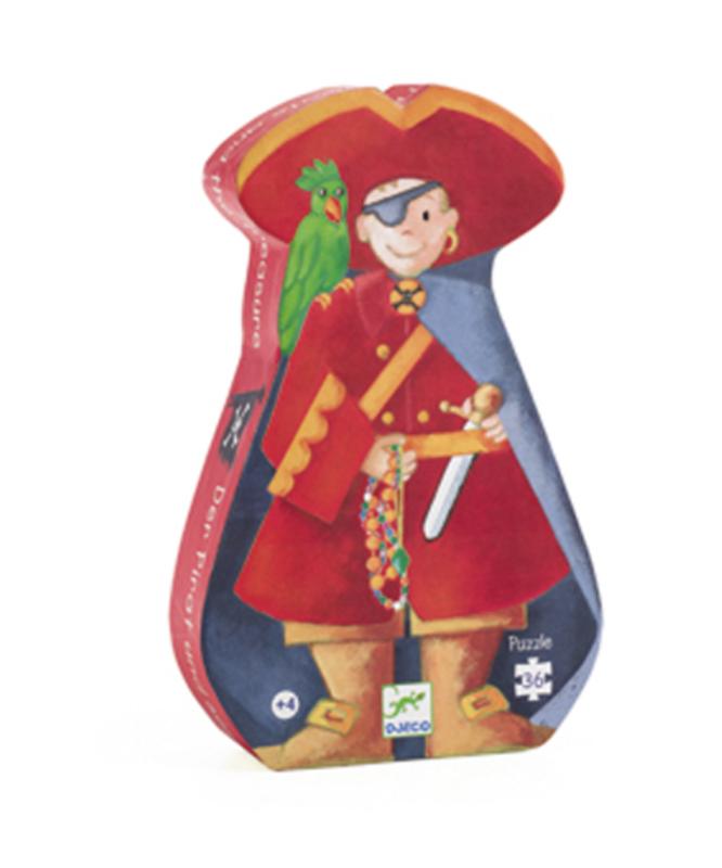 Djeco - Puzzle silouhette / Pirate