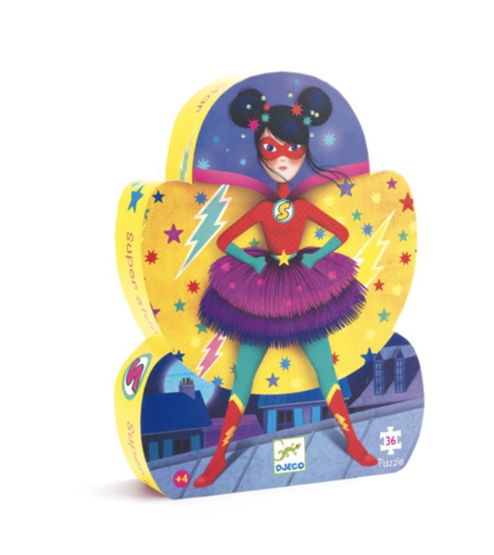 Djeco - Silhouette Puzzle / Super star / 36 pcs