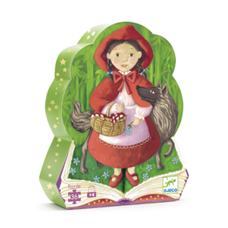 Djeco - Silhouette Puzzle / Little Riding Hood / 36 pcs