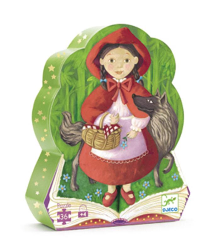 Djeco - Silhouette Puzzle / Little Riding Hood / 36 pcs