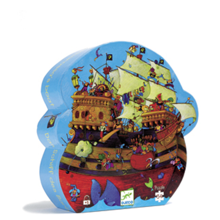 Djeco puzzle silhouette - Bateau Barberousse