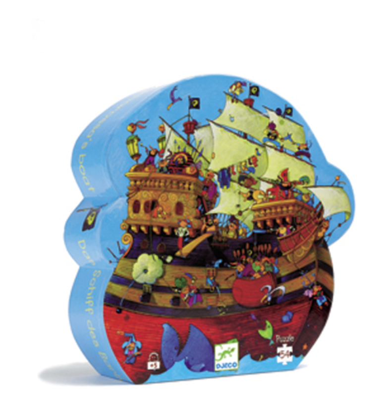 Djeco - Silhouette Puzzle / Barbarossa's Boat / 54 pcs