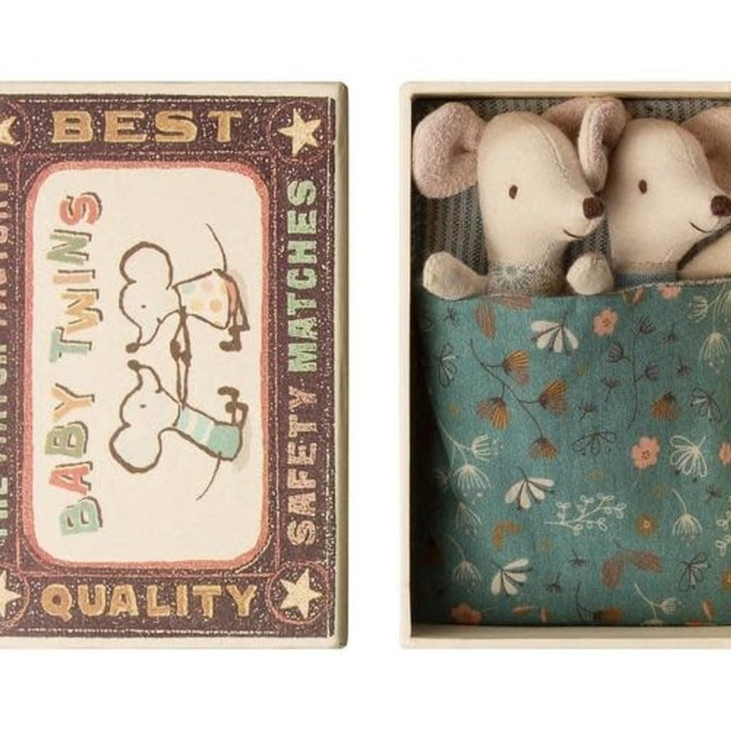 Maileg - Baby mice, twins in box