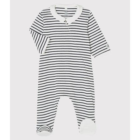 Petit bateau Petit Bateau - Zip-Up Organic Cotton Sleepsuit