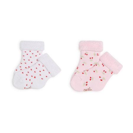 Carrement Beau Carrement Beau - Ens. 2 paires de chaussettes coeurs + cerises