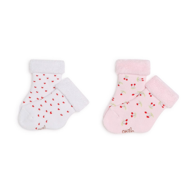 Carrement Beau Carrement Beau - 2 pk Socks hearts and cherry