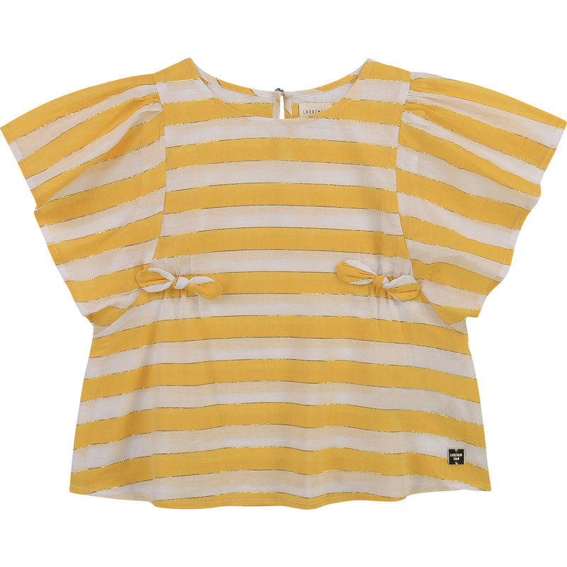 Carrement Beau Carrement Beau - SS striped shirt with bows