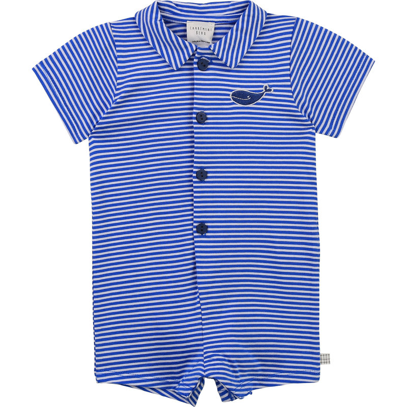 Carrement Beau Carrement Beau - Stripped whale Romper