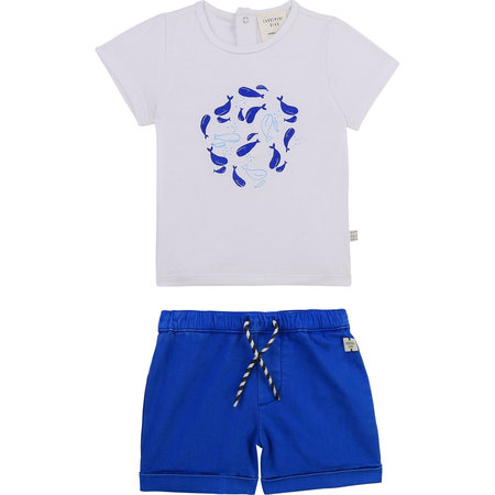 Carrement Beau Carrement Beau - Tshirt + Short Whales Set