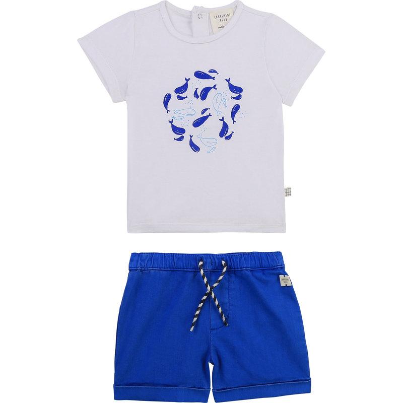 Carrement Beau Carrement Beau - Tshirt + Short Whales Set