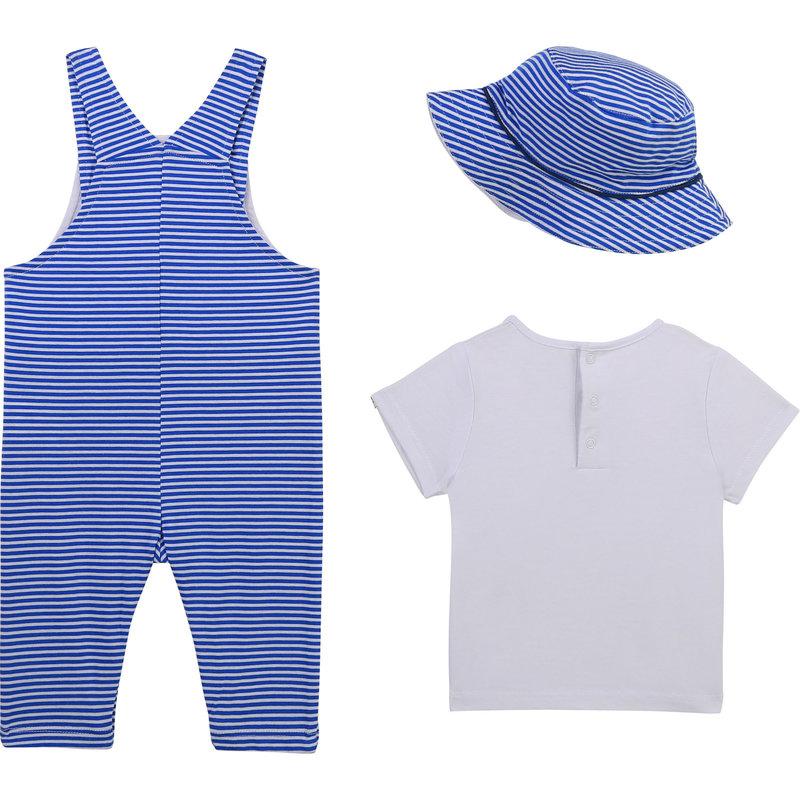 Carrement Beau Carrement Beau - Overall + tshirt + hat set