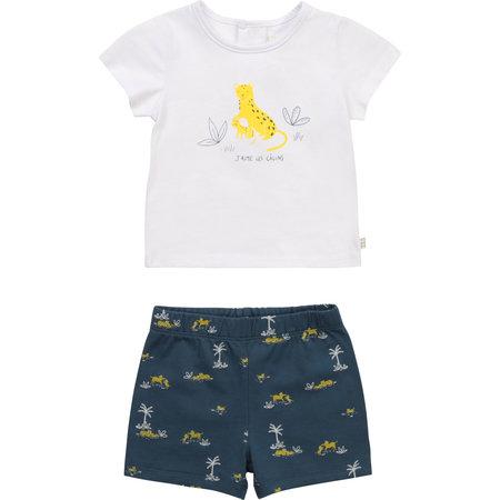 Carrement Beau Carrement Beau - Leopard Tshirt + shorts set