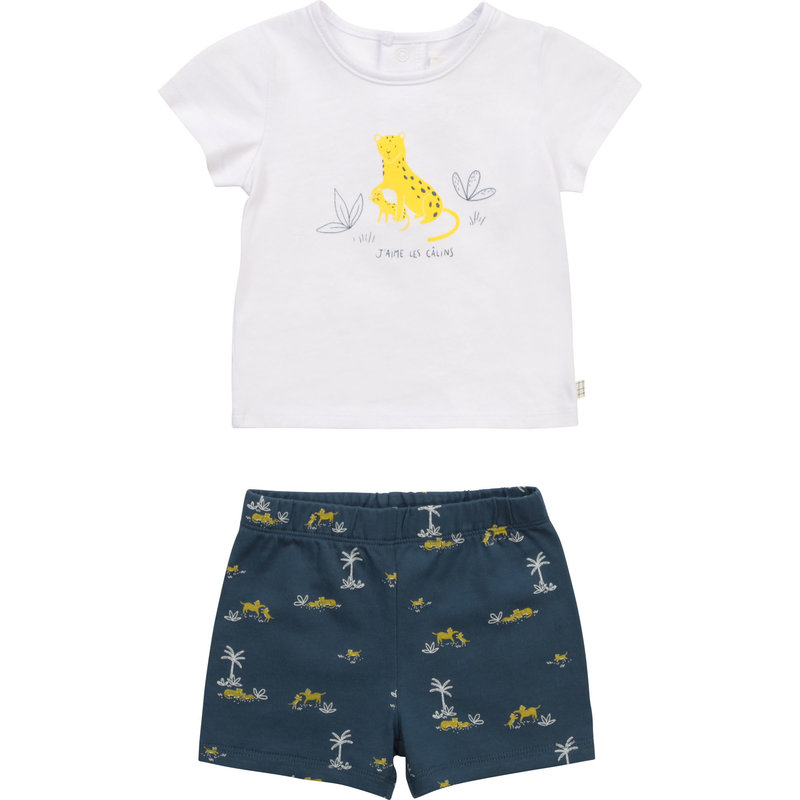 Carrement Beau Carrement Beau - Leopard Tshirt + shorts set
