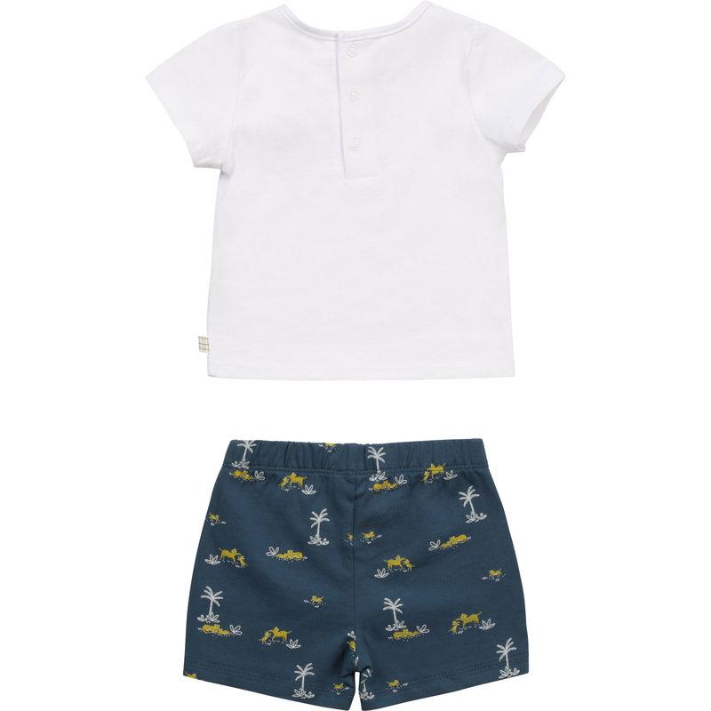 Carrement Beau Carrement Beau - Ens. Tshirt + shorts leopard