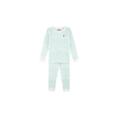 Petit bateau Petit Bateau - Snugfit Wave Print Cotton Pyjamas